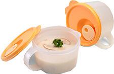 Tupperware CrystalWave Soup Mug Reheatable Set of 2 NEW