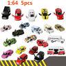 1:64 5pcs Die Cast Cars Vehicles Play Set Toy Car Children's Model Diecast Metal