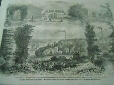 Gravure 1861 - Industries Francaises Manufacture d'Orgues Maison Alexandre et fi