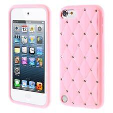 Apple iPod Touch 5 6 Silikon Case Soft Rhinestone Glitzer Bling Funkel Rosa
