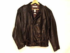 "Anne Pinkerton ""Ape"" VTG black leather motorcycle jacket / size S to L / s34"