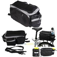 New Black Waterproof Polyester Bike Rear Seat Bag Cycling Trunk Handbag Pannier