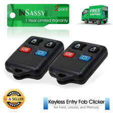 2 Replacement Keyless Remote Key Fob for Ford, Lincoln & Mercury - Four Button