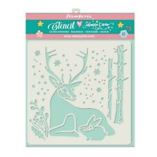 NEW Stamperia  Stencil 18cm x 18cm Reindeer and Rabbit KSTDQ29