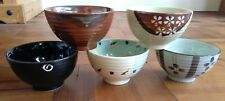 Set of 5 Oriental Chinese Rice Soup Ice Cream Bowls - Contemporary Mixed Designs