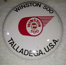 OLD VINTAGE WINSTON 500 TALLADEGA U.S.A. NASCAR RACING PIN PINBACK BADGE 60s-70s