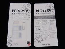 Noosy 4 in 1 Universal Pack Nano To Micro & Standard Sim Card Adapter UK seller