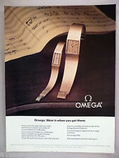 Omega Watch PRINT AD - 1981 ~~ watches, wristwatch