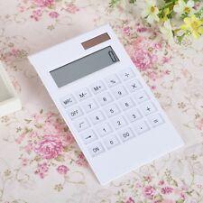 Creative Slim 12 Digital Dual Power Supply Solar Energy Crystal Key Calculator