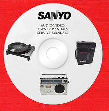 New listing Sanyo Audio Video Repair Service owner manuals on 1 dvd in pdf format