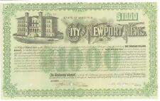 City Of Newport News (Virginia).1917 School Bond