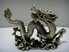 Chinese Copper Carved luck dragon Statues h876