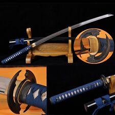 Hand Forge Japan Samurai Sword Katana Folded Steel Blade Sharp Can Cut Tree#2132