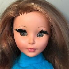 "1960s ""SHEILA"" Red Hair Green Eyes Furga Italy Alta Moda 17"" Doll + Box&Stand"