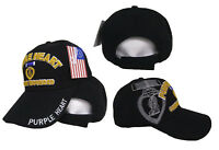 Embroidered Purple Heart Combat Wounded Shadow Baseball Military Cap Hat (RUF)