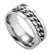 Men's Ring Stainless Steel Novelty Rotatable Chain Fashion Creative Size 6-12