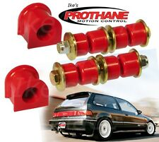 Prothane 8-1105 Front Sway Bar 16mm Bushing & End Link Kit Honda Civic/CRX 88-91