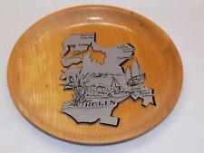 Rügen Germany Travel Souvenir Vintage Wood Plague Sign Map Binz Sellin Sassnitz