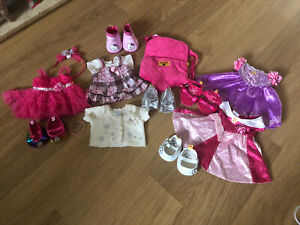 Build A Bear + clothes outfit dress bundle inc Disney Princess Shoes & carriers