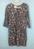 Masai Black Cream Patterned Balloon Hem Tunic Dress Size S - B45