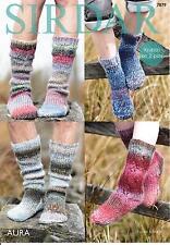 Sirdar 7879 Knitting Patttern Family Socks in Sirdar Aura Chunky