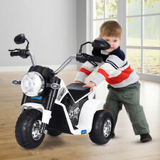 Electric Motorcycle Kids Ride On Toy 6V Battery Powered 3 Wheel Bicycle White