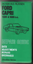 Ford Capri 1300 & 1600cc Repair Guide Data Adjustments Overhauls by Russek 1973