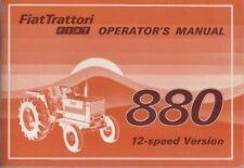 FIAT 880 & 880DT TRACTOR ORIGINAL 1977 OWNERS INSTRUCTION & MAINTENANCE HANDBOOK