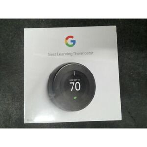 Google T3018US Nest Learning Thermostat 3rd Generation Mirror Black