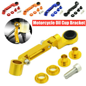 CNC Motorcycle Brake Clutch Master Cylinder Fluid Reservoir Tank Oil Cup Holder