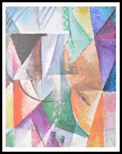 Robert Delaunay Ein Fenster Poster Kunstdruck mit Alu Rahmen in schwarz 60x48cm