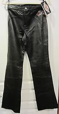 """Harley-Davidson Women's """"Pipedream"""" Black Leather Pants SIZE 4"""