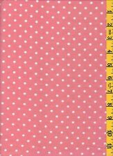 Cotton Quilting Sewing Fabric David Textiles Flannel Swiss Dots Pink