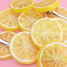 1 X Lindo Amarillo Limón Rebanada Novedad Accesorio Cabello Clip japonés Kawaii Cosplay