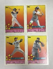 1989 Topps BOSTON RED SOX Super Star Sticker Back Mini Team Set Clemens Boggs +