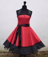 db083b6bffc8 50er Petticoat Retro Pinup Party Tanz Jugendweihe Konfirmation Bühne Kleid  34-54