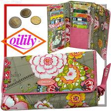 Oilily Damen-Geldbörse (Sonne,Sand,Strand bunte Blumen) Geldbeutel,Portmonee Neu