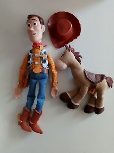 "Disney Talking 15"" Woody With Working Pull String W/ Bullseye Woody Hat included"