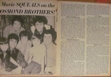 Donny Osmond and the Osmonds, Marie, Brothers, Two Page Vintage Clipping