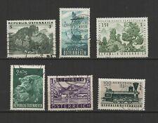 AUTRICHE 6 timbres oblitérés anciens / T2531