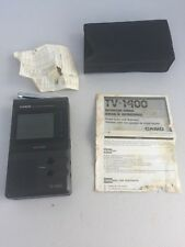 "Casio VHF UHF TV-1400 2"" LCD Pocket Color Television carry pouch"