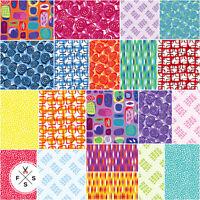 """Christa Watson Abstract Garden Precut 10"""" Fabric Squares Layer Benartex, B01"""