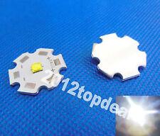 10pcs Cree XTE XT-E White LED + 20mm Star Base  1W 3W 5W led emitter 456lm@5W