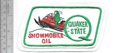 Snowmobile Oil Quaker State Oil & Lubricants Houston Texas 1970's Promo Patch wh