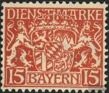 Bayern D27 postfrisch 1916 Staatswappen