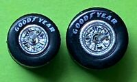 5 sets  HOT WHEELS Goodyear REAL RIDERS WHEELS & Tires (sm/lg) Chrome Hubs