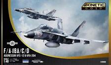 Kinetic Gold 48088 F/A-18A/C/D Aggressor (VFC-12 & VFA-204) - Bausatz 1:48