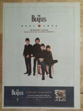 Beatles Real Love anthology 1996 press advert Full page 27 x 38 cm mini poster