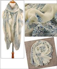 Men's Fashion Soft Solid Color Long Crinkle Silk-Cotton Neck Scarf