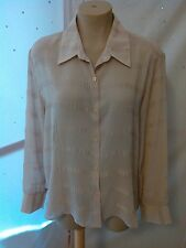 Claudia Richard Women's Long Sleeve Beige Blouse Size 20W